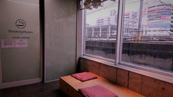Heartsバスステーション博多喫煙所