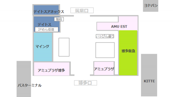 博多駅内地図