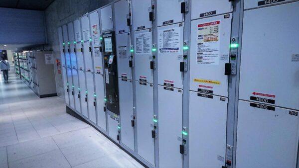 アミュプラザ博多入口ファミマ横のコインロッカー
